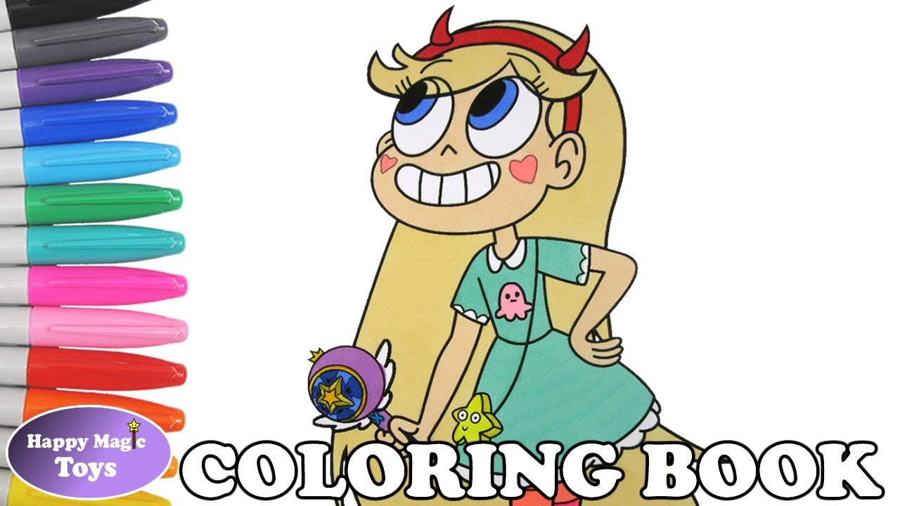 Star Vs The Forces Of Evil Star Butterfly Coloring Book