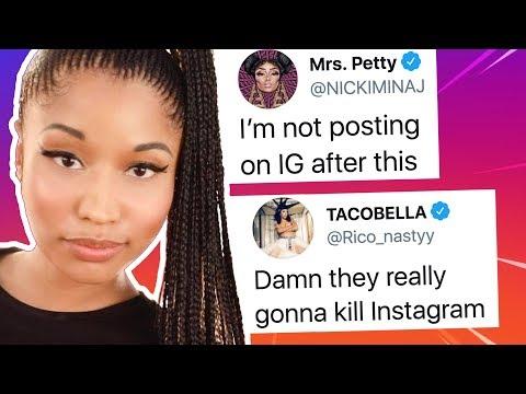 Nicki Minaj Furious After IG Adds Privacy Feature, Kim Kardashian Speaks Up