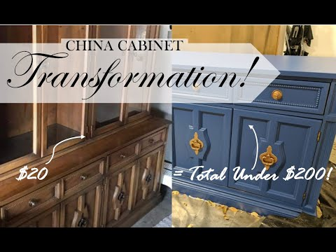repurpose old china cabinet