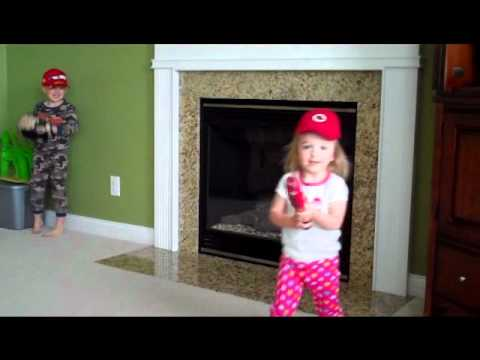 This 2 Year Old Girl Knows Her Cincinnati Reds Players