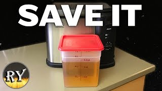 How I Filter and Store Turkey Fryer Oil For Multiple Uses