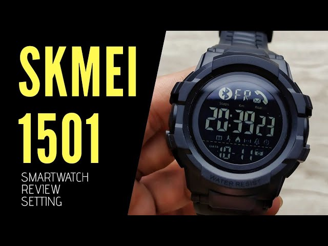 Smartwatch Skmei 1501 Unboxing Review Setup With Subtitle Youtube
