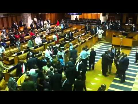 Complete chaos in the National Assembly