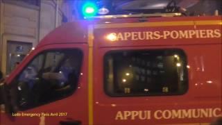 Terrorist Attack Champs Elysées Paris, Paris Fire dept and Police on scene April 2017