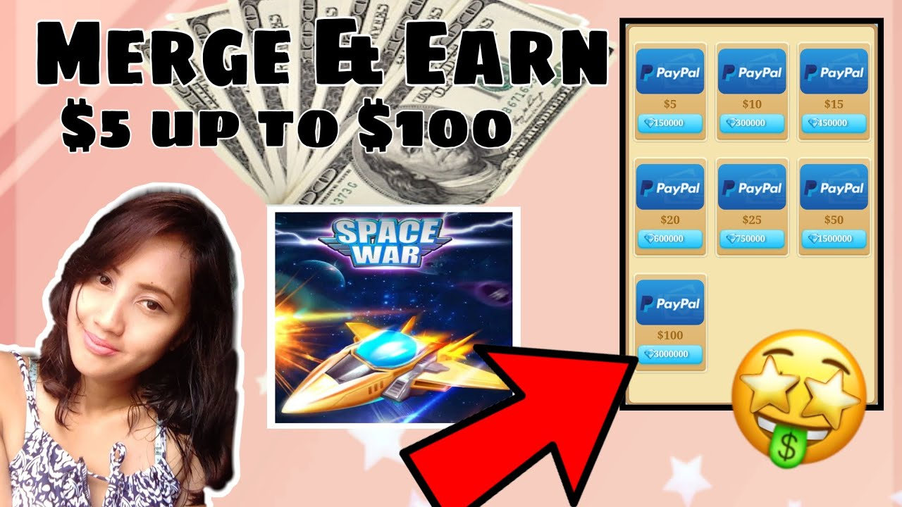SPACE WAR || Earn up to $100 just by playing this merge and idle game!