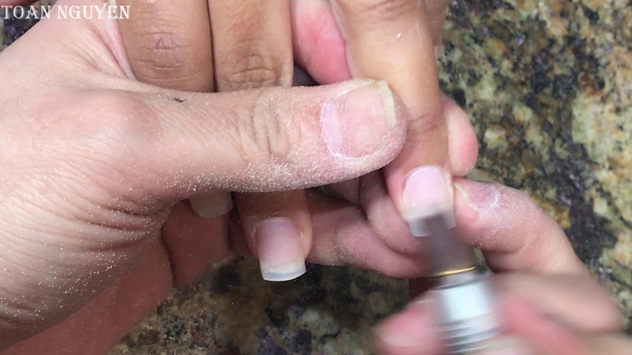 cách làm nails đơn giản 221: Dũa Nhám cho người mới HỌC Nails