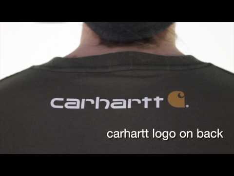 K195 Carhartt Men's Signature Logo Short-Sleeve T-Shirt