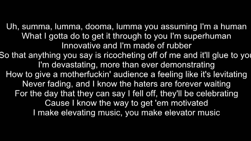 Lyric rapping lyrics : Rap God Eminem slow version lyrics - YouTube