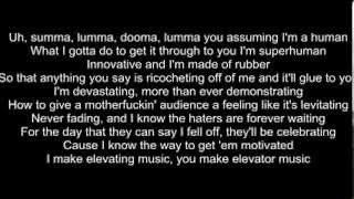 Rap God Eminem slow version lyrics