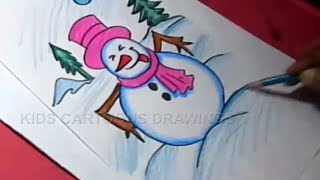 How to Draw Winter Season Detailed Drawing Step by Step for Kids
