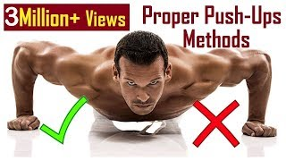 Tips for Perfect Push-Ups   Correct position & way of Doing (Men or Women)  in Hindi