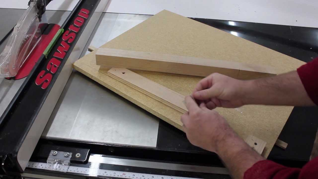 Tapering Table Legs On Your Sawstop Table Saw Youtube