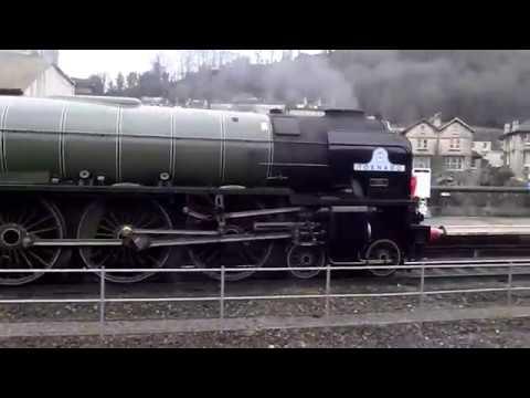 60163 Tornado hauling the St David cautiously through Bath Spa