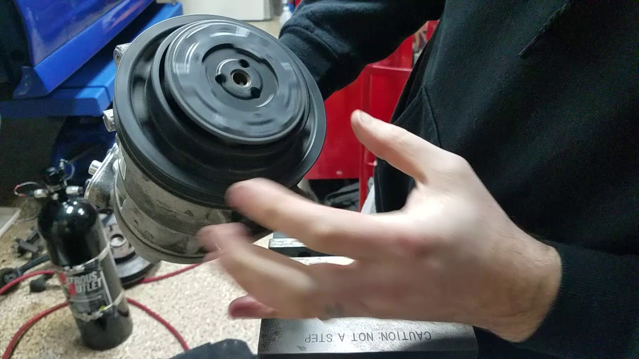 hight resolution of how to remove the ac compressor pulley pontiac g8 holden ve