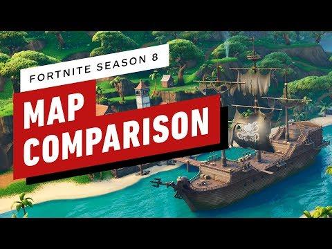 Fortnite: New Map Season 8 Comparison! thumbnail