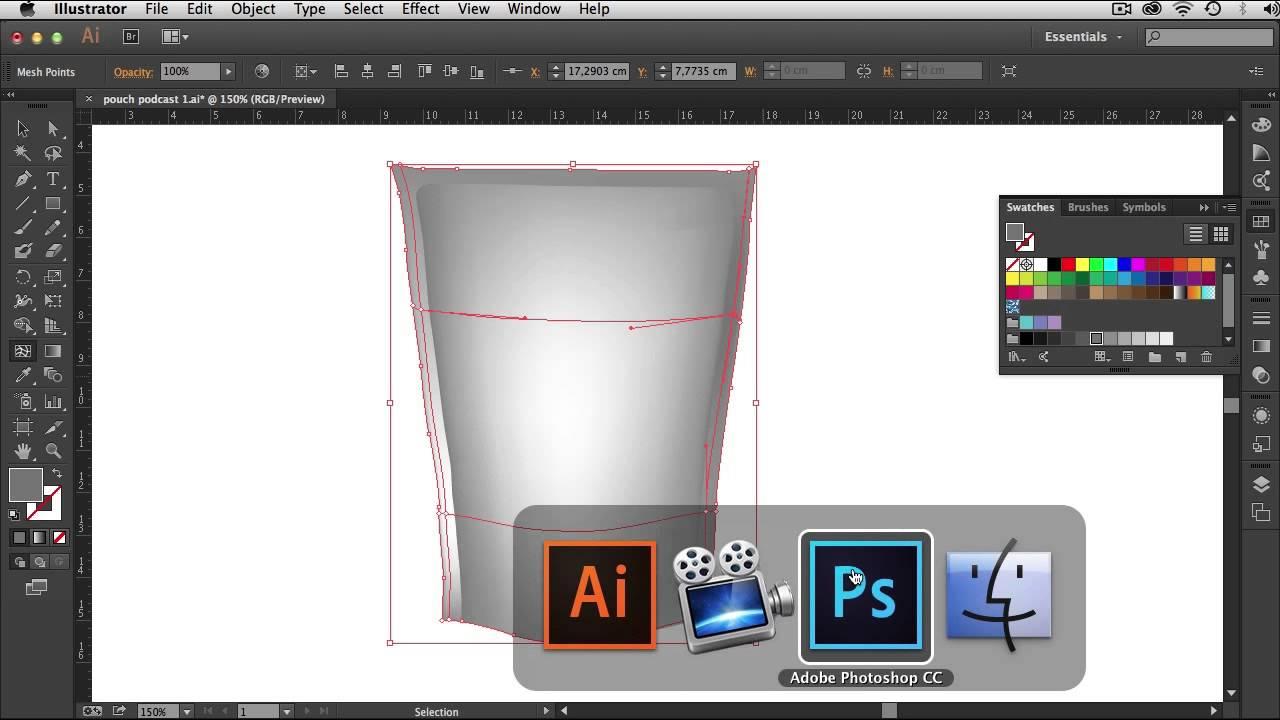 3641a8ec35 Criando um Mockup Digital com a dupla Illustrator e Photoshop - YouTube