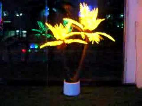 LED coconut palm tree light