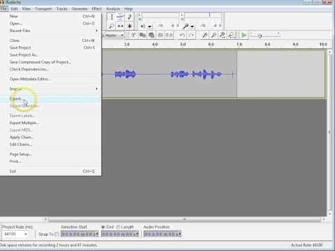 Digital Media - Recording with Audacity