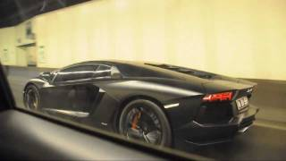 in peak hour traffic. Hey, we're beating the Lambo! This matte blac...