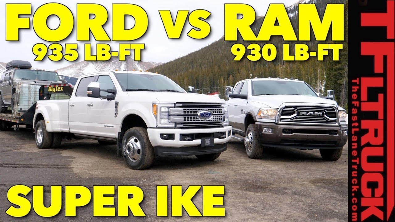 F350 Towing Capacity >> 2018 Ram 3500 Hd Vs Ford F350 Vs World S Toughest Xxl Towing Test