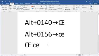 How to type letter Oe (Œ)