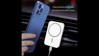 차량용 고속 무선충전 강력 자석거치대 아이폰 안드로이드