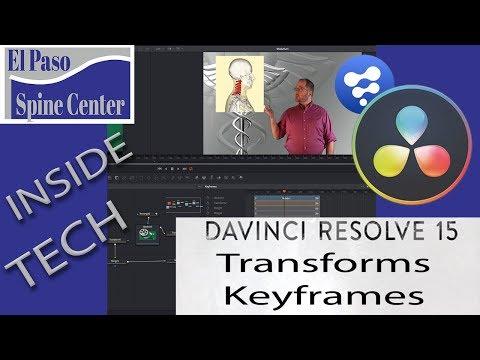 Davinci Resolve 15/Fusion: Tutorial Transform Nodes, Keyframe Use