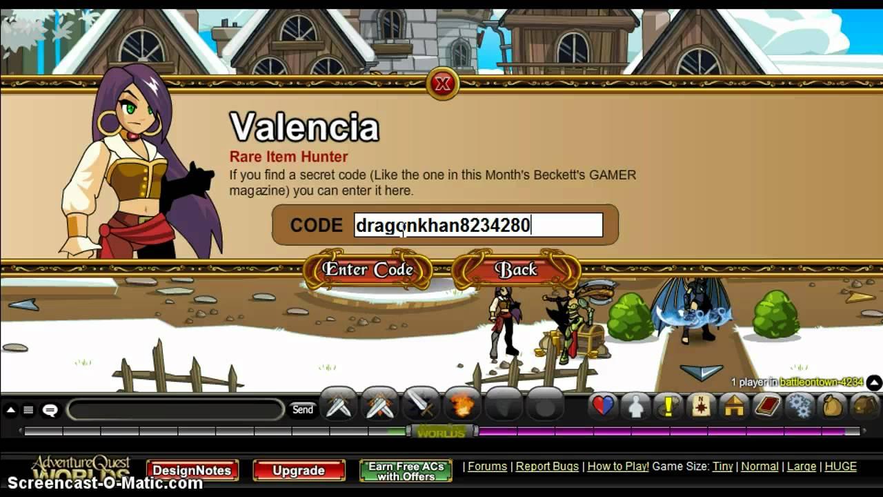AQW Valencia Special Codes! - YouTube