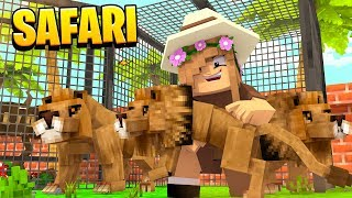 SAVING THE BABY LIONS FROM POACHERS | Minecraft SAFARI w/ Little Kelly