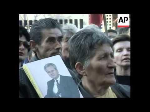 MONTENEGRO: PODGORICA: ANTI AMERICAN PROTESTS