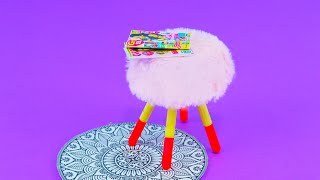 DIY How to make a doll chair # dolls furniture for dollhouse # Barbie stuff