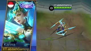ZODIAC KARINA GEMINI HALO SHOP ANIMATION AND GAMEPLAY