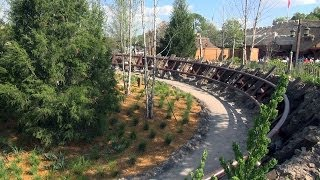 3/20/14 Update SEVEN DWARFS MINE TRAIN COASTER Ride CONSTRUCTION - More WALLS DOWN
