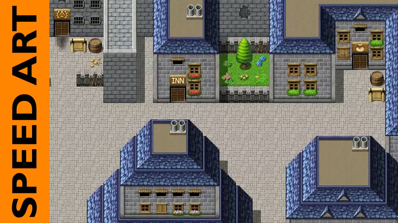 speed mapping fantasy town rpg maker mv shidolionheart youtube