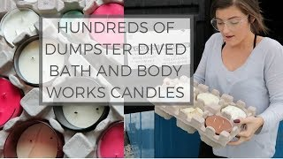 HOW TO REPURPOSE CANDLES || DUMPSTER DIVED BATH & BODY WORKS