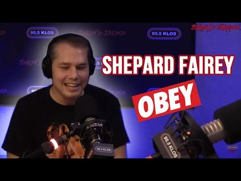 Shepard Fairey In-studio on Jonesy's Jukebox
