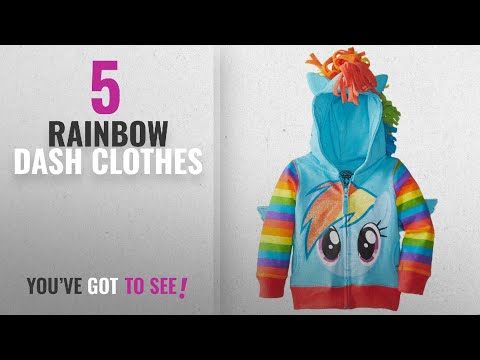 Top 10 Rainbow Dash Clothes [2018]: My Little Pony Rainbow Dash Blue Girls Costume Hoodie