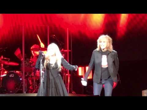 "Stevie Nicks & Chrissy Hines ""Stop Draggin My Heart Around"" Portland, OR Feb 28th 2017 Moda Center"