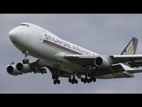 Summer Afternoon Plane Spotting at London Heathrow Airport - Arrivals RW27L