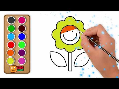 Sunflower Coloring Page | How to Draw Sunflower for Kids By Kido Colors
