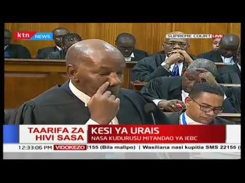 Fred Ngatia's time at the Supreme court defending President Uhuru Kenyatta in regards to NASA case