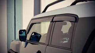 WELLvisors side window visors Installation Video TOYOTA FJ Cruiser 07-14