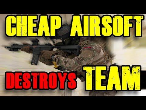 CHEAP AIRSOFT destroys TEAM Airsoft CQB Gameplay