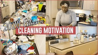 COMPLETE DISASTER CLEAN WITH ME | EXTREME CLEANING MOTIVATION (Spring 2020)