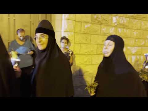 Крестный ход с плащаницей Божией Матери. Иерусалим 2021год.