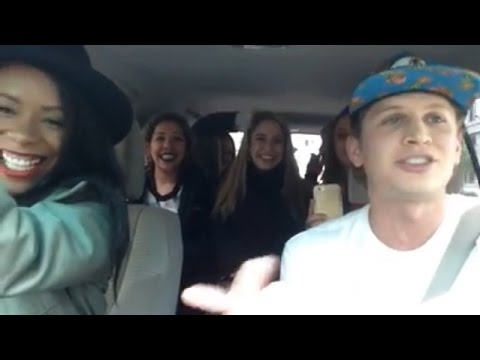 Thumbnail: Uber driver raps for car full of babes. WATCH THIS.