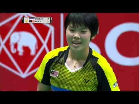 SCG Thailand Open 2016 | Badminton SF M5-WS | Busanan Ongbamrungphan vs Goh Jin Wei