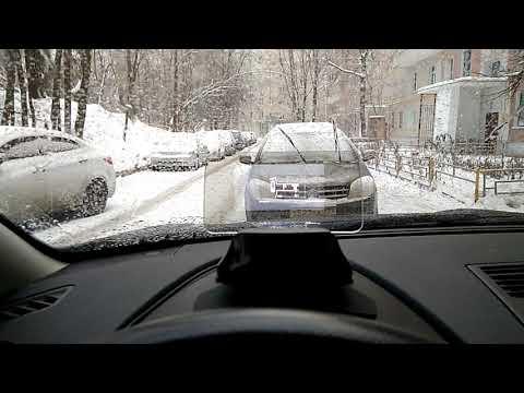 Проектор Hudway Cast с навигатором Hudway (Google Maps) на лобовом стекле Nissan Qashqai+2