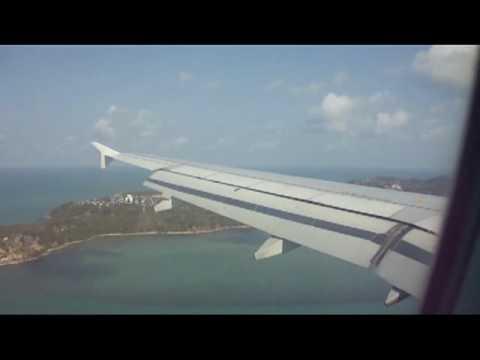 Bangkok Airways Airbus A319-132 Landing @ Koh Samui Airport