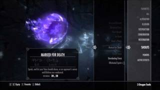 Skyrim - Dragon Shout Guide: Marked For Death